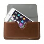 Apple iPhone 6 Plus universali ruda odinė įmautė prie (ant) diržo (XL+ dydis)