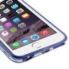 Apple iPhone 6 Plus (6s Plus) skaidrus permatomas rėmelis (kraštų apvadas, bamperis) - tamsiai mėlynas