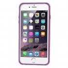 Apple iPhone 6 Plus (6s Plus) skaidrus permatomas rėmelis (kraštų apvadas, bamperis) - violetinis