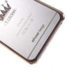 Apple iPhone 6s Plus X-Fitted Crystal Crown Swarovski plastikinis skaidrus permatomas auksinis dėklas su kristalais