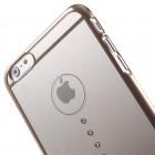 Apple iPhone 6s Plus X-Fitted Crystal Waterdrop Swarovski plastikinis skaidrus permatomas auksinis dėklas su kristalais