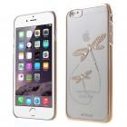 Apple iPhone 6 (6s) X-Fitted Crystal Dragonfly Swarovski plastikinis skaidrus permatomas auksinis dėklas su kristalais