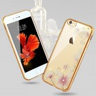 """Apple iPhone 6s """"JLW"""" Magnolia elegantiškas silikoninis TPU dėklas su auksiniais apvadais"""
