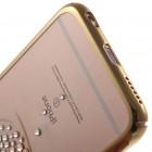 """Apple iPhone 6 (6s) """"Kavaro"""" Swan plastikinis skaidrus permatomas auksinis dėklas su kristalais"""