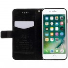 Apple iPhone 7 (iPhone 8) atverčiamas juodas odinis dėklas, knygutė - piniginė