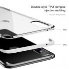 """Apple iPhone X (iPhone Xs) """"Baseus"""" Armor Case TPU silikoninis skaidrus permatomas dėklas su baltu rėmeliu"""