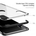 """Apple iPhone X (iPhone Xs) """"Baseus"""" Armor Case TPU silikoninis skaidrus permatomas dėklas su juodu rėmeliu"""