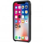 Soft Slim serijos Apple iPhone X (iPhone Xs) juodas odinis dėklas - nugarėlė