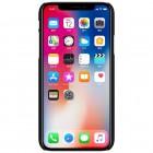 Nillkin Frosted Shield Apple iPhone X (iPhone Xs) juodas plastikinis dėklas + apsauginė ekrano plėvelė