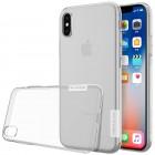 Apple iPhone X (iPhone Xs) Nillkin Nature plonas skaidrus (permatomas) silikoninis TPU bespalvis dėklas