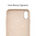 """""""Spigen"""" La Manon Calin Apple iPhone X (iPhone Xs) smėlio spalvos odinis dėklas - nugarėlė"""