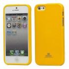 """""""Mercury"""" Color kieto silikono (TPU) geltonas Apple iPhone SE (5, 5s) dėklas (dėkliukas)"""
