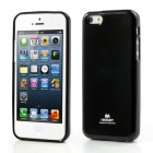"""""""Mercury"""" Color kieto silikono (TPU) juodas Apple iPhone 5C dėklas (dėkliukas)"""