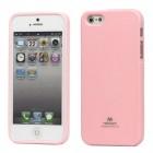 """""""Mercury"""" Color kieto silikono (TPU) rožinis Apple iPhone SE (5, 5s) dėklas (dėkliukas)"""