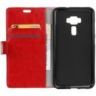 Asus Zenfone 3 5.2 (ZE520KL) atverčiamas raudonas odinis dėklas - piniginė