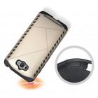 Sustiprintos apsaugos Asus Zenfone Max (ZC550KL) auksinis kieto silikono (TPU) ir plastiko dėklas