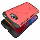 Sustiprintos apsaugos Asus Zenfone Max (ZC550KL) raudonas kieto silikono (TPU) ir plastiko dėklas