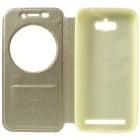 Asus Zenfone Max (ZC550KL) Roar Noble atverčiamas auksinis odinis dėklas