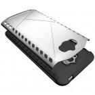 Sustiprintos apsaugos Asus Zenfone Max (ZC550KL) sidabrinis kieto silikono (TPU) ir plastiko dėklas