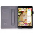 Asus ZenPad 3S 10 (Z500M) atverčiamas juodas odinis dėklas - knygutė