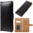 Solidi juoda odinė universali įmautė - piniginė (XL dydis)