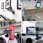 Baltas telefono laikiklis automobilyje