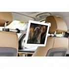 Automobilinis planšetės laikiklis (centrinis) tvirtinamas prie (tarp) galvos atlošų