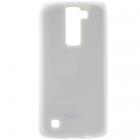 LG K8 baltas Mercury kieto silikono (TPU) dėklas - nugarėlė