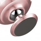 """""""Baseus"""" Magnet Mount (360°) rožinis automobilinis telefono laikiklis (prie panelės)"""