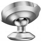 """""""Baseus"""" Magnet Mount (360°) sidabrinis automobilinis telefono laikiklis (prie panelės)"""