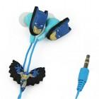 """Žaismingos """"Betmeno"""" mėlynos įkišamos į ausis ausinės"""