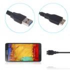 Juodas micro USB 3.0 laidas (1 metras)