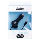 """Bullet"" automobilinis įkroviklis su integruotu micro USB laidu (1 A)"