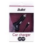 """Bullet"" automobilinis įkroviklis su integruotu micro USB laidu (2 A)"