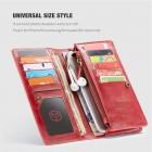 """""""CaseMe"""" Universali atverčiama raudona odinė įmautė - piniginė (XL+ dydis)"""