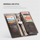"""""""CaseMe"""" Universali atverčiama ruda odinė įmautė - piniginė (XL+ dydis)"""