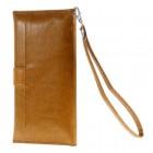 Universali atverčiama ruda odinė įmautė - piniginė (XL+ dydis)