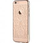 Apple iPhone 6 (6s) Devia Crystal Baroque Swarovski plastikinis skaidrus permatomas auksinis dėklas