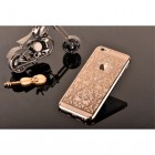 Apple iPhone 6s Plus Devia Crystal Baroque Swarovski plastikinis skaidrus permatomas auksinis dėklas su kristalais