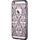 Apple iPhone 6s Plus Devia Crystal Baroque Swarovski plastikinis skaidrus permatomas juodas dėklas su kristalais
