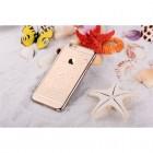 Apple iPhone 6 (6s) Devia Butterfly plastikinis skaidrus permatomas auksinis dėklas su drugeliais
