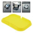 Geltonas Anti-Slip Pad automobilinis kilimėlis, laikiklis (S dydis)