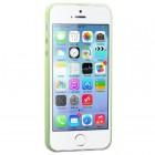 Hoco Thin Apple iPhone SE (5, 5s) žalias skaidrus plastikinis plonas dėklas