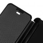 HTC Desire 626 Smart Dot View atverčiamas juodas dėklas - knygutė