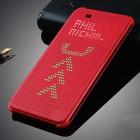 HTC Desire 820 Smart Dot View atverčiamas raudonas dėklas