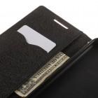"""HTC Desire 820 """"Mercury"""" rudas odinis atverčiamas dėklas - piniginė"""
