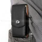 Universali vertikali juoda odinė įmautė prie diržo, L dydžio