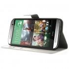 """""""Crazy Horse"""" HTC One M8 baltas odinis atverčiamas dėklas"""