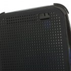 HTC One M8 (HTC One M8s) Smart Dot View atverčiamas juodas dėklas - knygutė