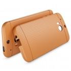 """HTC One M8 ir HTC One M8s """"Dots"""" kieto silikono rudas TPU dėklas - nugarėlė"""